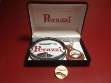 Perazzi  'Guns ' Glass Paperweight Now With Key Ring & Badge: