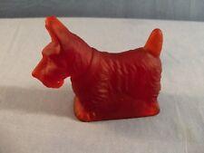 Mosser Ruby Red SATIN Glass Scottie Dog Figurine