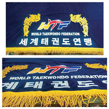 WTF World TaeKwonDo Federation Evaluation Table Cloth Flag TKD Korea Best
