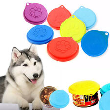 3pcs Tin Lids Dog Cat Food Can Covers Standard Sized Tins Plastic Lid Dog Supply
