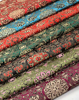 "28"" TIBET SILK DAMASK JACQUARD BROCADE FABRIC : DAKINI FAIRY & LOTUS BY 1/2 YD"
