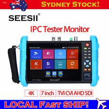 "Local SEESII 7"" 4K IPC Camera CCTV Tester TVI CVI AHD SDI IP Onvif Test Monitor"