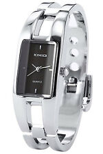 Kimio Women's Bracelet Bangle Quartz Wrist Watch Black LW