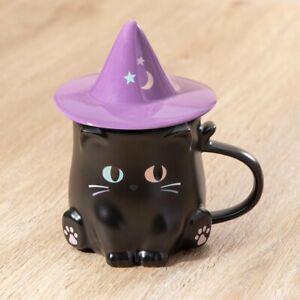STARBUCKS HONG KONG 2021 HALLOWEEN Witch Cat Mug 12oz 魔法小黑貓咖啡杯