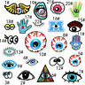 Eye Eyeballs Palm Embroidered Patch Sew Iron On Clothes Fabric Applique Crafts