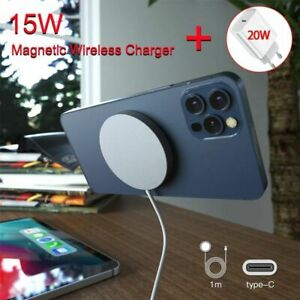 Magnetic 15W Wireless Charger For iPhone 12 Mini Fast Charging Dock Quick 20W