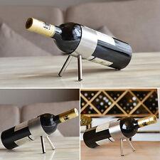 Silver Simple Desktop Stainless Steel Wine Rack Metal Kitchen Display Holder New