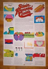 Retro 1971 Clorox Stain Removal Guide advertising poster original