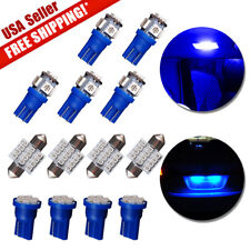 13x Ultra Blue T10 Led 31mm Festoon Bulb Interior Package Kit for Dome Map Light