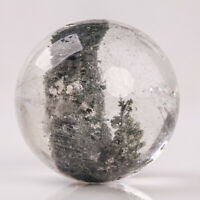 47g32mm Natural Garden/Phantom/Ghost/Lodolite Quartz Crystal Sphere Healing Ball