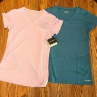 Women's EDDIE BAUER Resolution V Neck Performance Shirts - Small - NWT $58 msrp