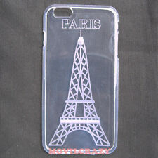 "FUNDA CUSTODIA GEL TPU PARA IPHONE 6 PLUS 5.5"" TRANSPARENTE DIBUJO TORRE EIFFEL"