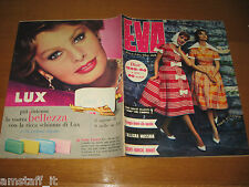 EVA=1959/6=RIVISTA MAGAZINE MODA DONNA WOMAN CUCINA ARREDAMENTO=