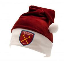 West Ham United Santa Hat Red Supersoft Fan Xmas New Official Licensed Product