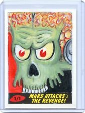 2017 TOPPS MARS ATTACKS #1/1 HAND DRAWN ART AUTO THE REVENGE ORIGINAL PAINTING