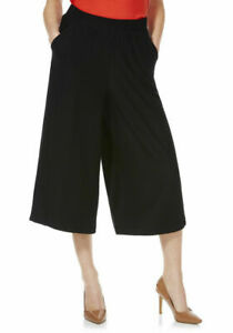 Textured Culottes Trousers Shorts  UK Size 10 , 12 Black