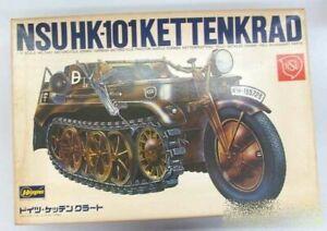 Hasewgawa Unassembled Plastic Model 1/9 NSUHK-101 KETTENKRAD w/box vintage toy
