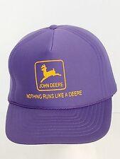 John Deere Nothing Runs Like a Deere Purple Vintage Ball Cap Hat Snapback