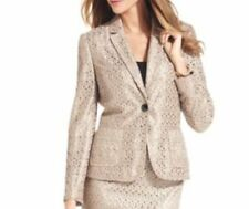 Tahari ASL  LUXE Jacket Sz 2 Gold NATHAN Lace 1 Button Career Coktail Blazer