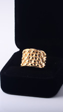 KEEPER RING GOLD TONE HI QUALITY 3.16L STAINLESS STEEL