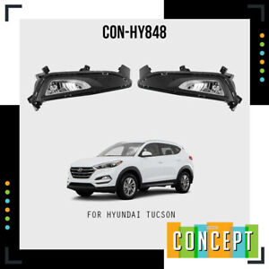For 2016-2018 Hyundai Tucson Fog Lights Lamps and Assembly Set