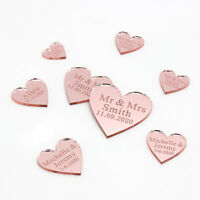 Personalized Wedding Mr & Mrs Rose gold Love Hearts Party Table Décor Confetti