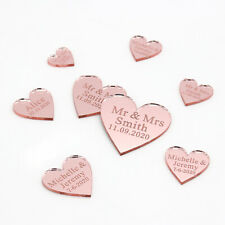 Personalized Wedding Mr & Mrs Rose gold Love Hearts Party Table Decor Confetti