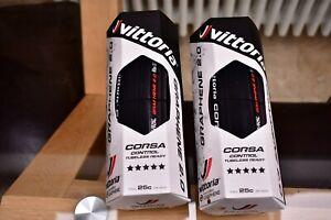 Pair of Vittoria Corsa CONTROL Graphene 2.0 Tubeless Tyres 25mm