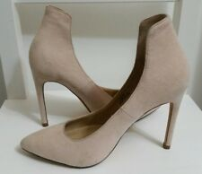 Ladies BLINK Pointed Toe Shoes Size 37 4 UK Suede High Stiletto Ankle Cuff Beige