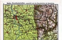 Mannheim Heidelberg Weinheim 1933 Atlaskarte Ladenburg Altrip Bammental Brombach