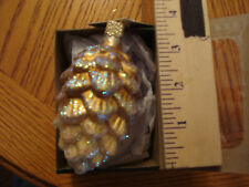 Pinecone Ornament Glass Glittered Pinecone Old World Christmas 48030 5
