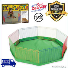 Indoor Small Animal Guinea Pig Pet Exercise Portable Playpen Panel Gerbils Cage