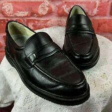 Rockport Women's Sz 6 Wide Black Leather Brazilian Vibram Sole Loafers