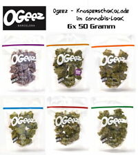 6x 50g - OGEEZ! Knusperschokolade im Cannabis Look - Alle Sorten im Probierpack