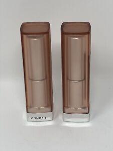 2 pk Maybelline Color Sensational Lip Color 535 Purely Nude Matte/Mat