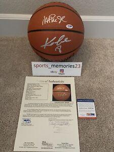 Kobe Bryant & Magic Johnson Dual Signed NBA BasketballPSA/DNA & JSA COA - Rare!