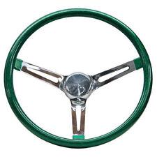 """Mooneyes Green Metalflake Steering Wheel 13.5"""" with slots in spokes Rat Fink"""