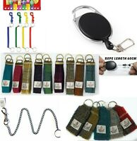 Retractable Ski Pass Holder / Key Ring / Harris Tweed Keyring /Spring/metal Fob.