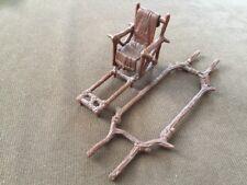 Vintage Star Wars Ewok Village Parts Lot ~ Throne Chair & Carrier