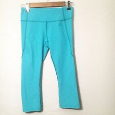 The North Face Womens Sz S/P 3/4 Length Teal Running Workout Athletic Tights