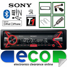 Peugeot 206 CC  Sony 55 x 4W CD MP3 USB Bluetooth Car Stereo Steering Wheel Kit