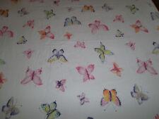 The Company Store Twin Flat Sheet Butterfly Butterflies White Pink Orange yellow