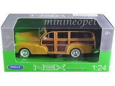 Welly 22083 1948 Chevrolet Woody Wagon Fleetmaster 1/24 Diecast Model Car Yellow