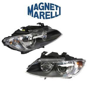For BMW E90 E92 M3 Pair Set of Left & Right Bi-Xenon Adaptive Headlights Marelli