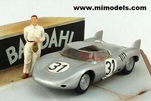 PORSCHE 718 RSK 1958 Le Mans #31 Class Winner 1:43 MiniMarque43 wh/met handbuilt
