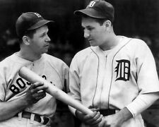 RUDY YORK & JIMMIE FOXX 8X10 PHOTO BOSTON RED SOX TIGERS BASEBALL PICTURE MLB