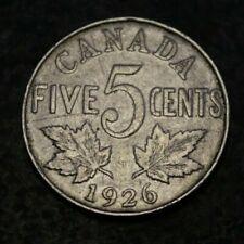 Canada 5 Cents 1926 Far