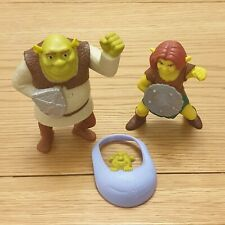 Shrek Toy Figures Bundle Shrek Princess Fiona & Baby McDonald's 2010