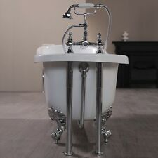 Chrome Traditional Classic Retainer Shrouds Exposed Waste Kit Roll Top Bath Pack