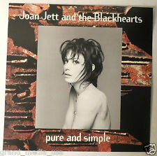 Joan Jett - Pure & Simple promo Poster/Flats (2) (1994 Warner) EXC CONDITION